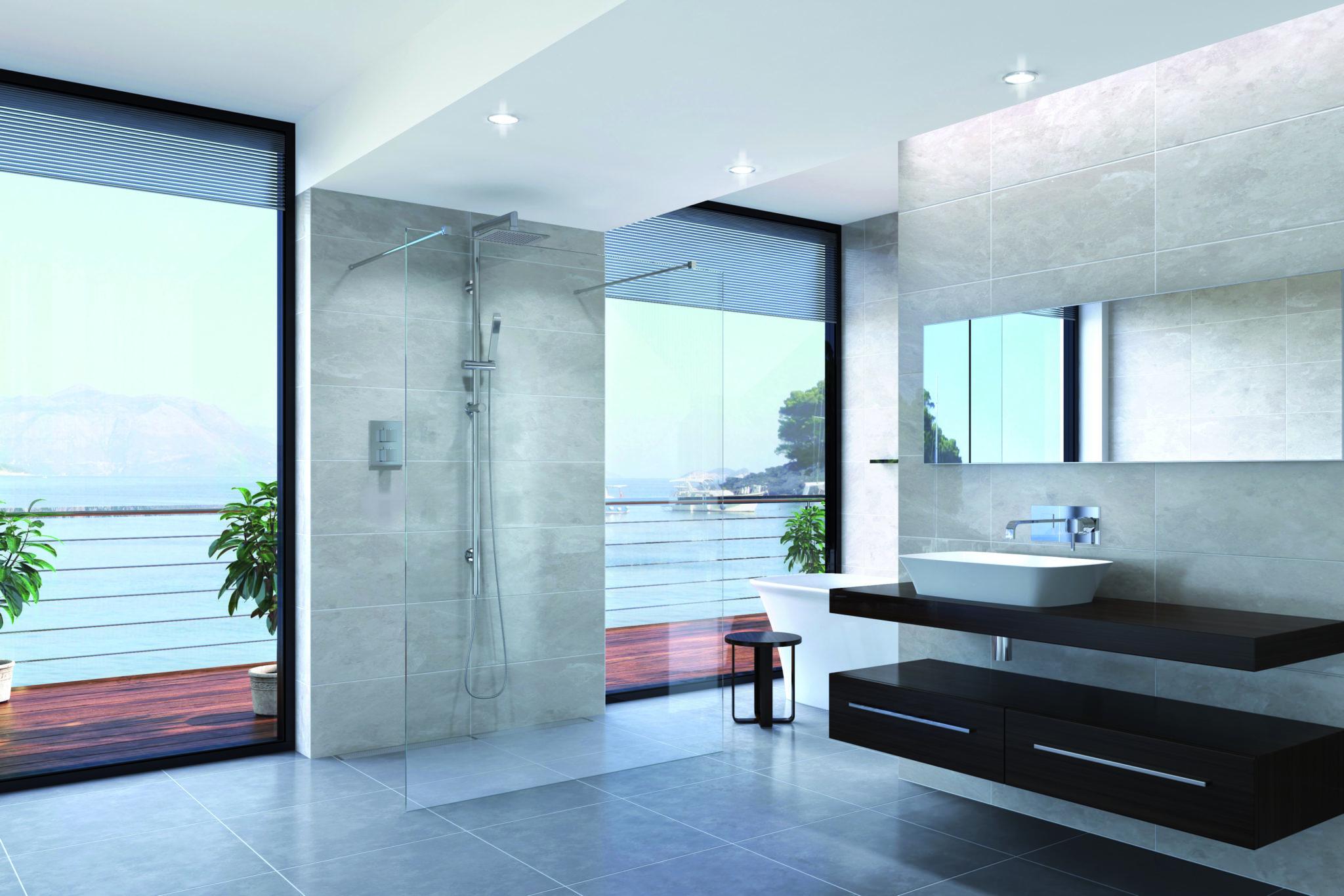 hotel style luxury bathroom